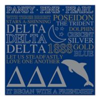 Delta Delta Delta Canvas Wall Art