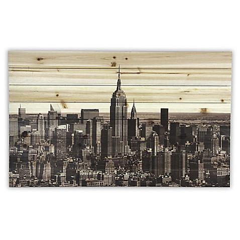 NYC Sepia Skyline Wood Wall Art - Bed Bath & Beyond