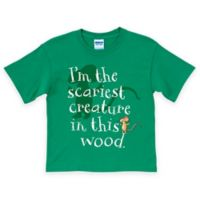 "Gruffalo Mouse Size 2T ""I am the Scariest Creature in this Wood"" T-Shirt in Green"