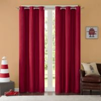 Mi Zone Cobi 63-Inch Grommet Top Lined Window Curtain Panel Pair in Red