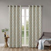 INK+IVY Ankara 63-Inch Grommet Top Window Curtain Panel in Aqua