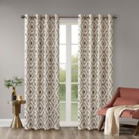 INK+IVY Ankara 63-Inch Grommet Top Window Curtain Panel in Taupe