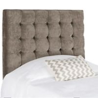 Safavieh Lamar Tufted Velvet Twin Headboard in Greige