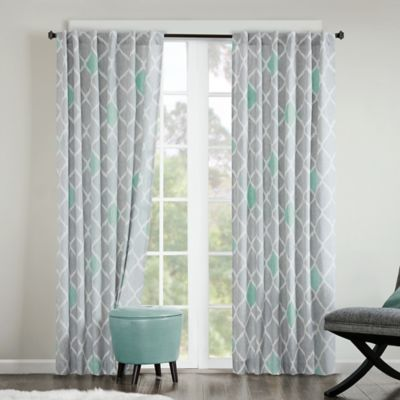 INK+IVY Nile 84-Inch Rod Pocket/Back Tab Window Curtain Panel in
