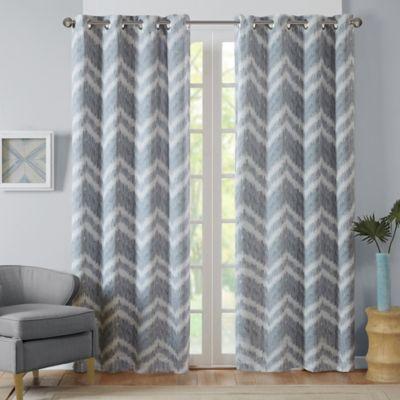 Intelligent Design Seto 84 Inch Room Darkening Grommet Top Window Curtain Panel In Grey