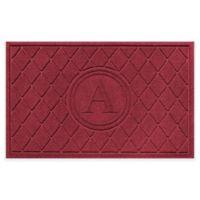 Weather Guard™ 23-Inch x 35-Inch Argyle Door Mat in Red/Black