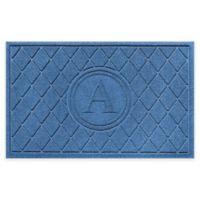 Weather Guard™ 23-Inch x 35-Inch Argyle Door Mat in Medium Blue
