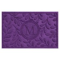Weather Guard™ 23-Inch x 35-Inch Brittany Leaf Door Mat in Purple