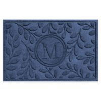 Weather Guard™ 23-Inch x 35-Inch Brittany Leaf Door Mat in Navy