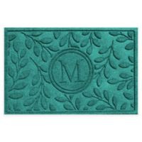 Weather Guard™ 23-Inch x 35-Inch Brittany Leaf Door Mat in Aquamarine