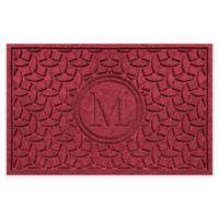 Weather Guard™ Ellipse Door Mat in Red/Black