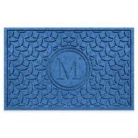 Weather Guard™ Ellipse Door Mat in Medium Blue