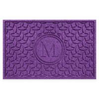 Weather Guard™ Ellipse Door Mat in Purple