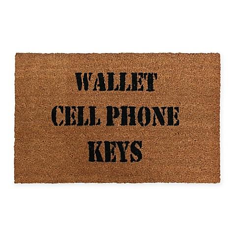 Quot Wallet Cellphone Keys Quot 18 Inch X 28 Inch Door Mat Bed