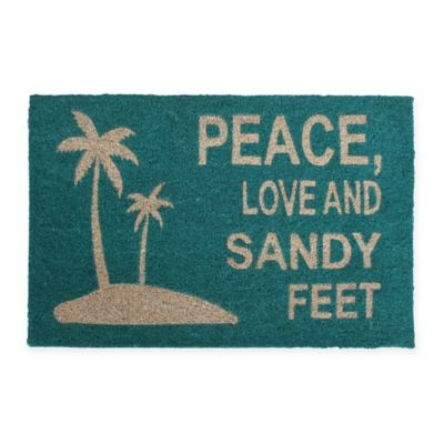 Buy Peace Love Amp Muddy Paws Door Mat From Bed Bath Amp Beyond