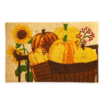 Pumpkin Patch Coir Door Mat Insert