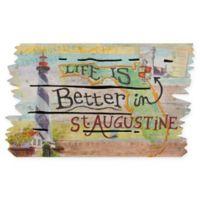 """""""Life is Better in St. Augustine"""" 18-Inch x 30-Inch Door Mat"""