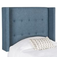 Safavieh Damon Winged Twin Headboard in Denim Blue