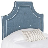 Safavieh Tallulah Twin Headboard in Denim Blue/White