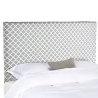 Safavieh Sydney Lattice Full Headboard in Grey/White