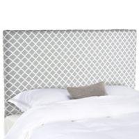 Safavieh Sydney Lattice Queen Headboard in Grey/White
