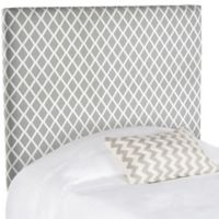 Safavieh Sydney Lattice Twin Headboard in Grey/White
