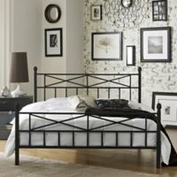 E-Rest Kayla Metal Full Platform Bed in Black