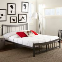 E-Rest Scarlet Metal Full Platform Bed in Black