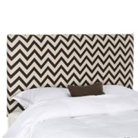 Safavieh Ziggy King Headboard in Black and White Zigzag