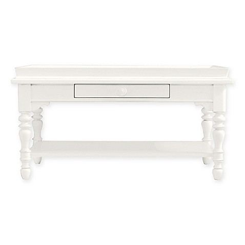 image of Coastal Living® Stanley Furniture Sandbox Cocktail Table in Saltbox White