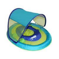 Swimways Baby Spring Float W Canopy Whale Blue