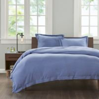INK+IVY Cotton Jersey Knit King Duvet Cover Set in Blue