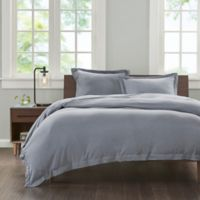 INK+IVY Cotton Jersey Knit King Duvet Cover Set in Grey
