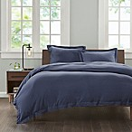 INK+IVY Cotton Jersey Knit Full/Queen Duvet Cover Set in Navy