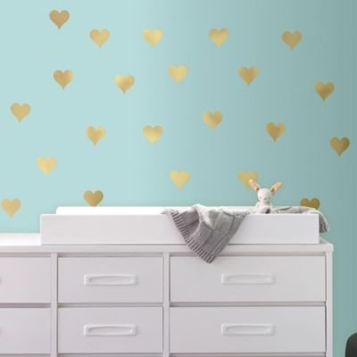 Ordinaire Gold Heart Peel And Stick Wall Decals