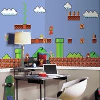 Super Mario Retro XL Chair Rail Prepasted 10.5-Foot x 6-Foot Mural