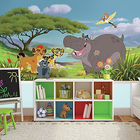 buy the lion guard xl chair rail prepasted 10 5 foot x 6 foot mural. Black Bedroom Furniture Sets. Home Design Ideas