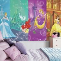 Disney Princess Scenes XL Chair Rail Prepasted 10.5-Foot x 6-Foot Mural