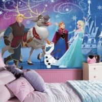 Disney Frozen Magic XL Chair Rail Prepasted 10.5-Foot x 6-Foot Mural