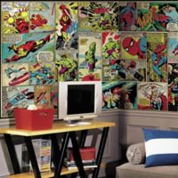 Marvel Comic Panel XL Chair Rail Prepasted 10.5-Foot x 6-Foot Mural