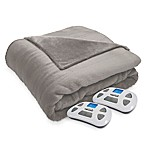 Therapedic® Silky Plush King Warming Blanket in Stone