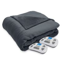 Therapedic® Silky Plush Queen Heated Blanket in Ash
