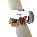 Excell Pumpkin Garden Napkin Ring Place Holders (Set of 4)