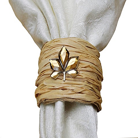 autumn wrapped napkin rings set of 4 bed bath beyond