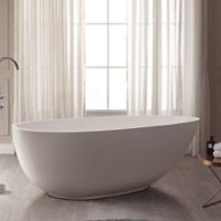 Avanity Gaia ABT1512-GL 67-Inch x 33.5 Inch Acrylic Freestanding Bath Tub in White
