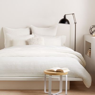 Buy Dkny Ruffle Wave Twin Duvet Cover In White From Bed