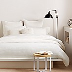 DKNY City Pleat King Duvet Cover in White