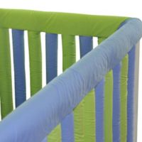 Go Mama Go Designs® 52-Inch x 6-Inch Cotton Couture Teething Guards in Lime/Periwinkle