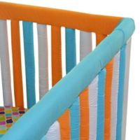 Go Mama Go Designs® 52-Inch x 6-Inch Cotton Couture Teething Guards in Orange/Aqua