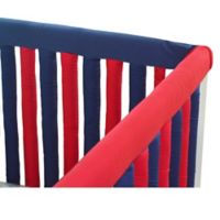 Go Mama Go Designs® 52-Inch x 6-Inch Cotton Couture Teething Guards in Navy/Red
